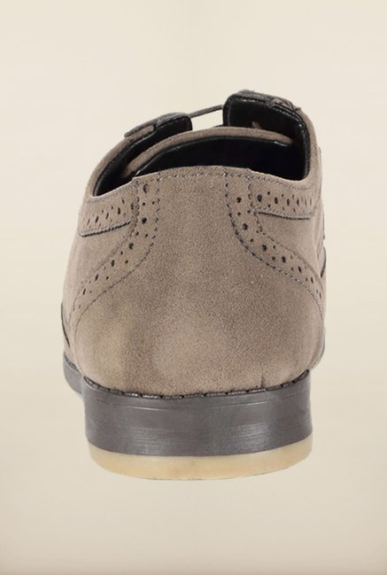 People Grey Brogue Shoes