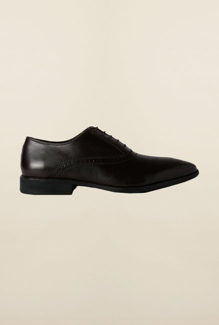Van Heusen Dark Brown Oxford Shoes