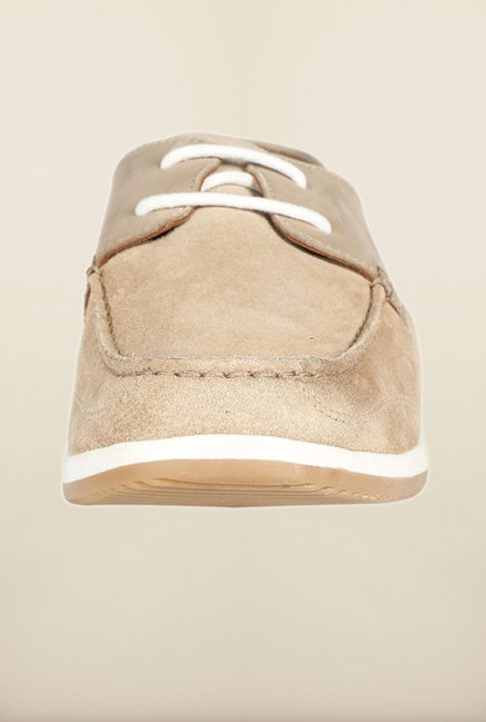 Louis Philippe Beige Casual Shoes