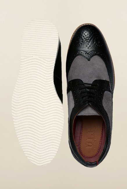 Louis Philippe Black Brogue Shoes