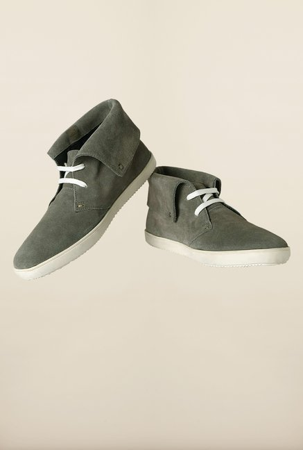 Van Heusen Dark Grey Casual Shoes