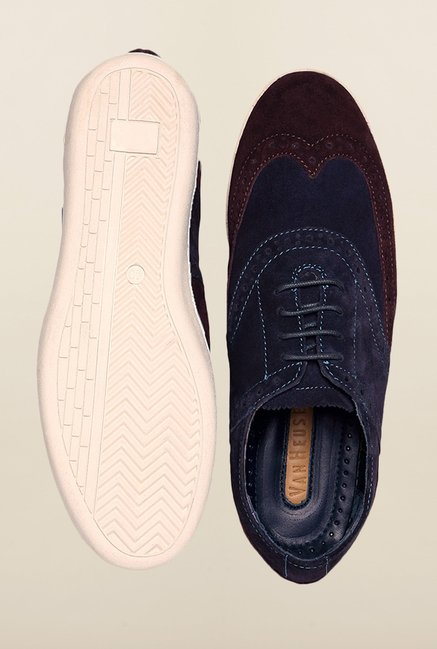 Van Heusen Navy & Brown Brogue Shoes