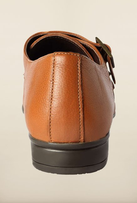 Van Heusen Brown Monk Shoes