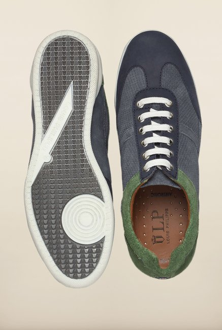Louis Philippe Blue & Green Sneakers
