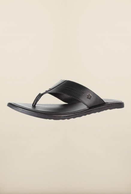 Louis Philippe Black Thong Sandals