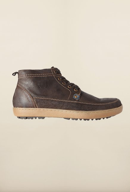 Allen Solly Brown Biker Boots