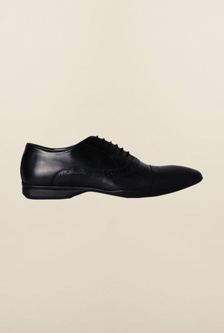 Van Heusen Black Oxford Shoes