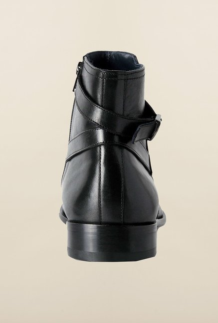 Louis Philippe Black Biker Boots