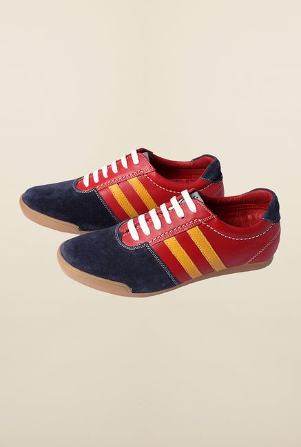 Louis Philippe Red & Navy Casual Shoes