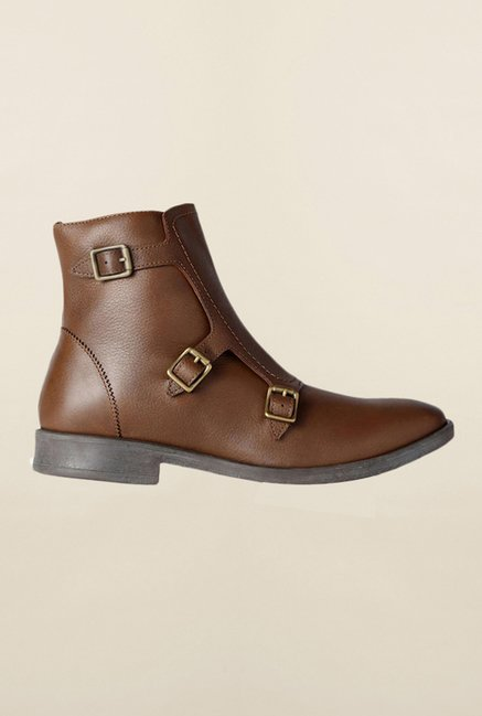 Louis Philippe Brown Chelsea Boots