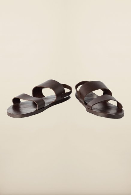 Van Heusen Dark Brown Back Strap Sandals