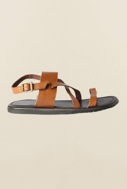 Allen Solly Tan Back Strap Sandals