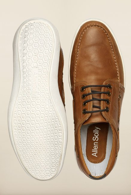 Allen Solly Brown Boat Shoes