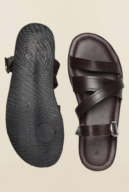 Van Heusen Brown Ankle Strap Sandals