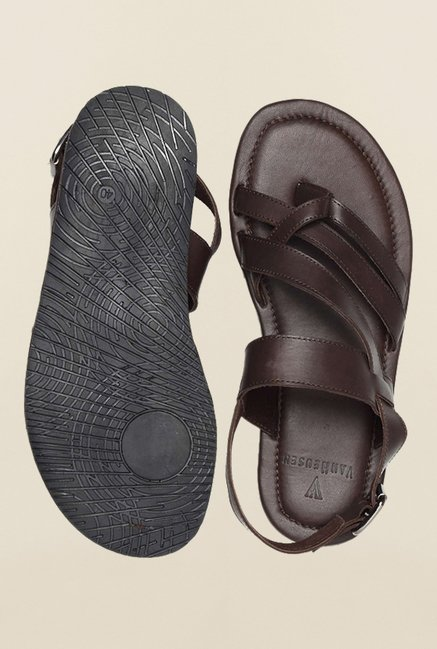 Van Heusen Brown Back Strap Sandals