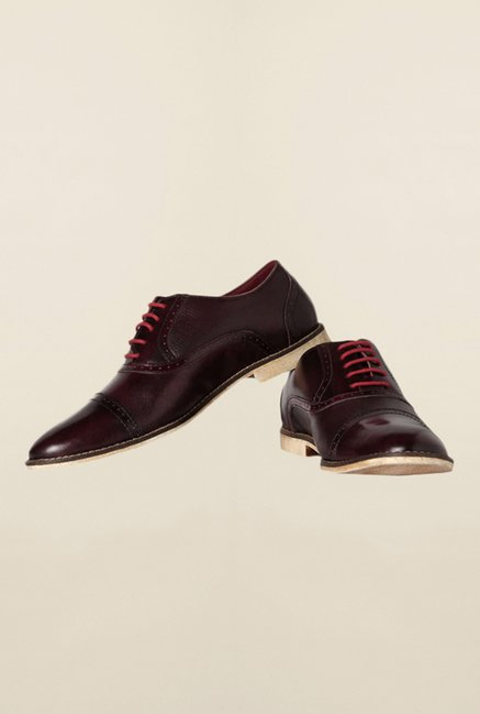Allen Solly Maroon Oxford Shoes