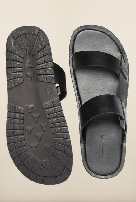 People Black Slide Sandals