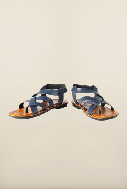 People Navy Back Strap Sandals