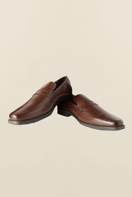 Buy Van Heusen Brown Formal Slip-Ons Shoes Online at best price at ... a88ebd21e
