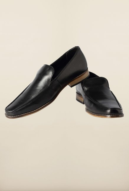 Van Heusen Black Formal Slip-Ons Shoes