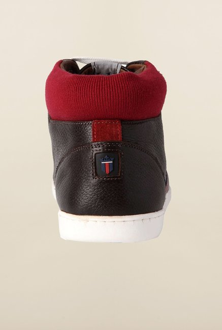 Louis Philippe Dark Brown Sneakers