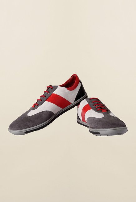 Allen Solly Grey & White Sneakers