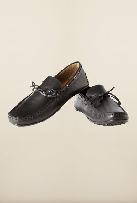 Louis Philippe Black Moccasins