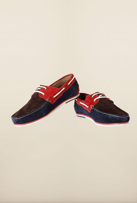 Louis Philippe Blue & Brown Moccasins