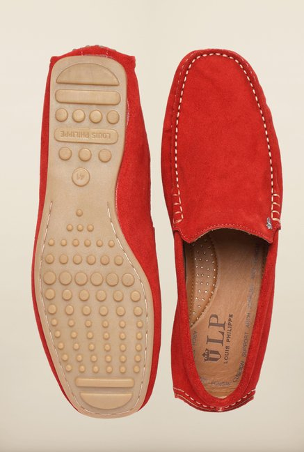 Louis Philippe Red Loafers