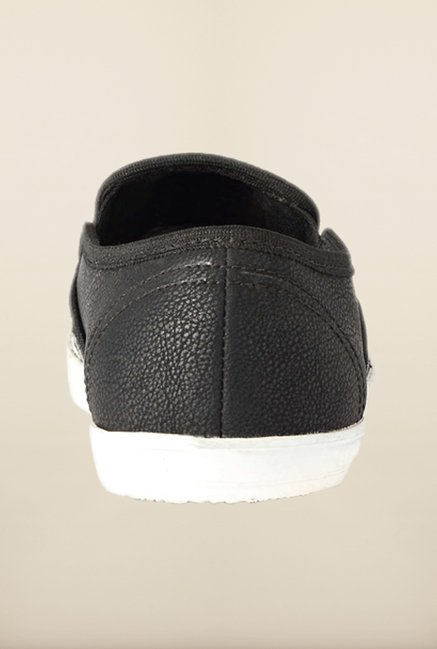 People Black Casual Slip-Ons