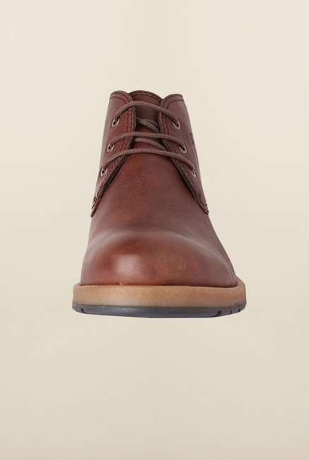 Allen Solly Brown Derby Boots