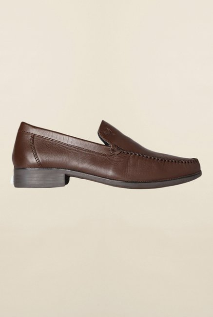 Allen Solly Brown Formal Slip-Ons Shoes