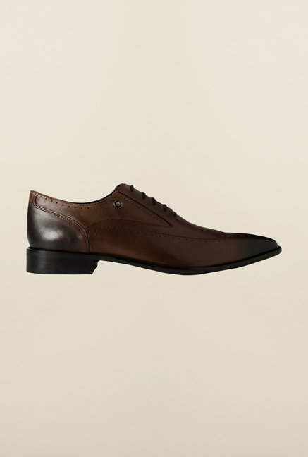 Louis Philippe Brown Brogue Shoes