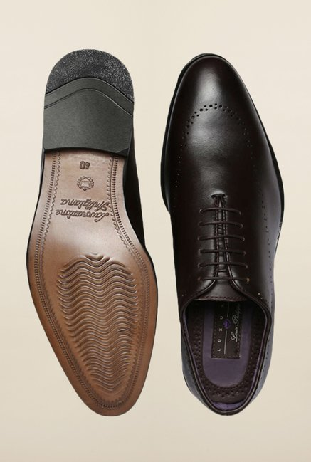 Louis Philippe Dark Brown Formal Shoes