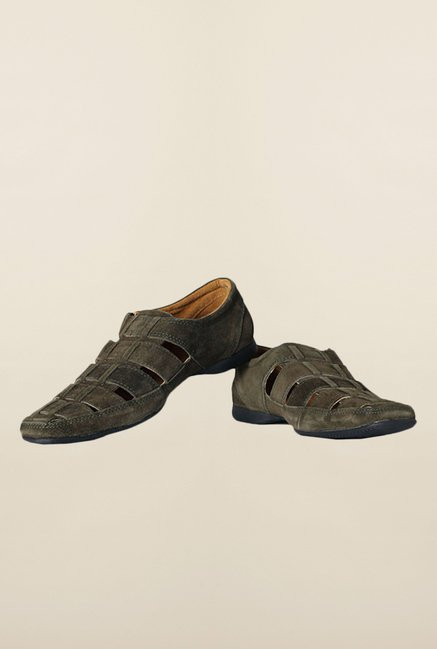 Allen Solly Olive Fisherman Sandals