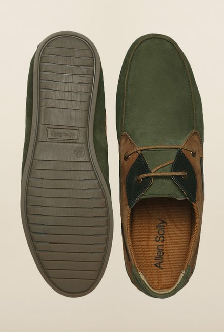 Allen Solly Olive Boat Shoes