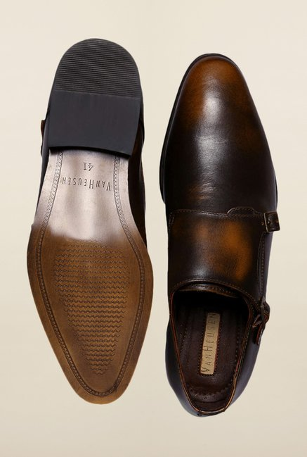 Van Heusen Brown Monk Strap Shoes