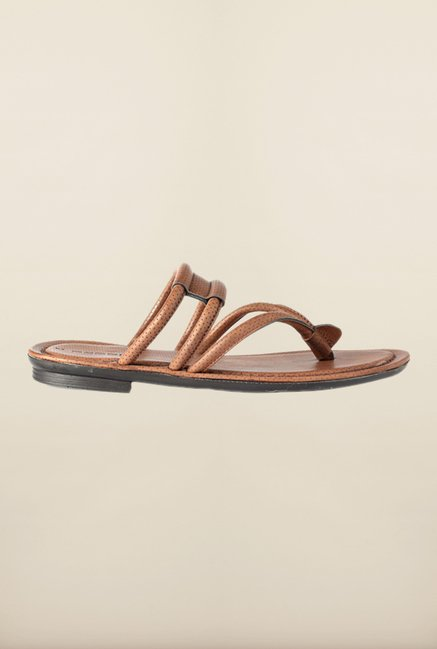 People Brown Thong Sandals