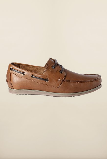 Louis Philippe Brown Boat Shoes