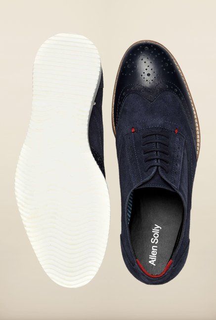 Allen Solly Navy Brogue Shoes