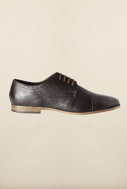 Allen Solly Brown Derby Shoes