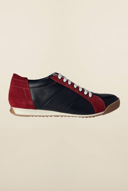 Allen Solly Black & Red Casual Shoes