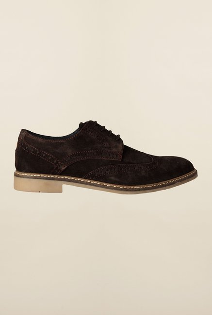 Allen Solly Dark Brown Brogue Shoes
