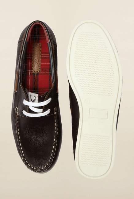 Allen Solly Dark Brown Boat Shoes