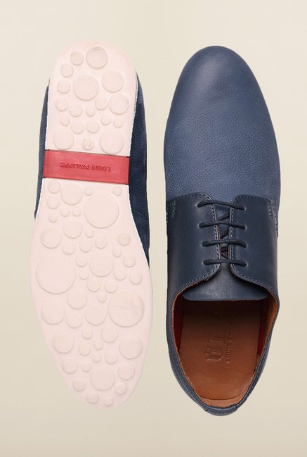 Louis Philippe Blue Derby Shoes