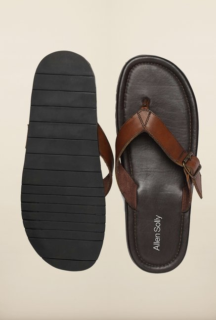 Allen Solly Brown Thong Sandals