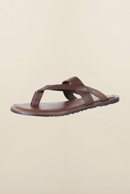 Van Heusen Dark Brown Slippers