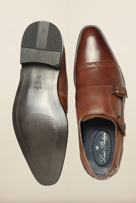 Louis Philippe Brown Monk Shoes