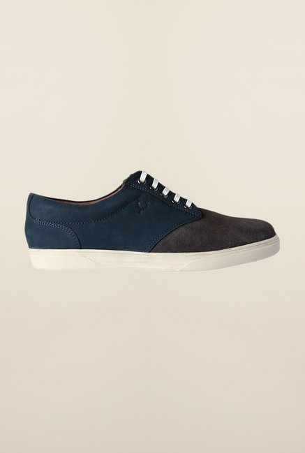 Allen Solly Grey & Blue Sneakers