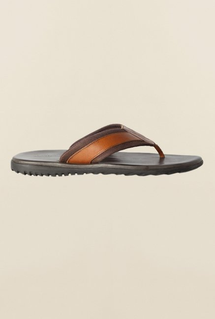 Allen Solly Brown Slippers
